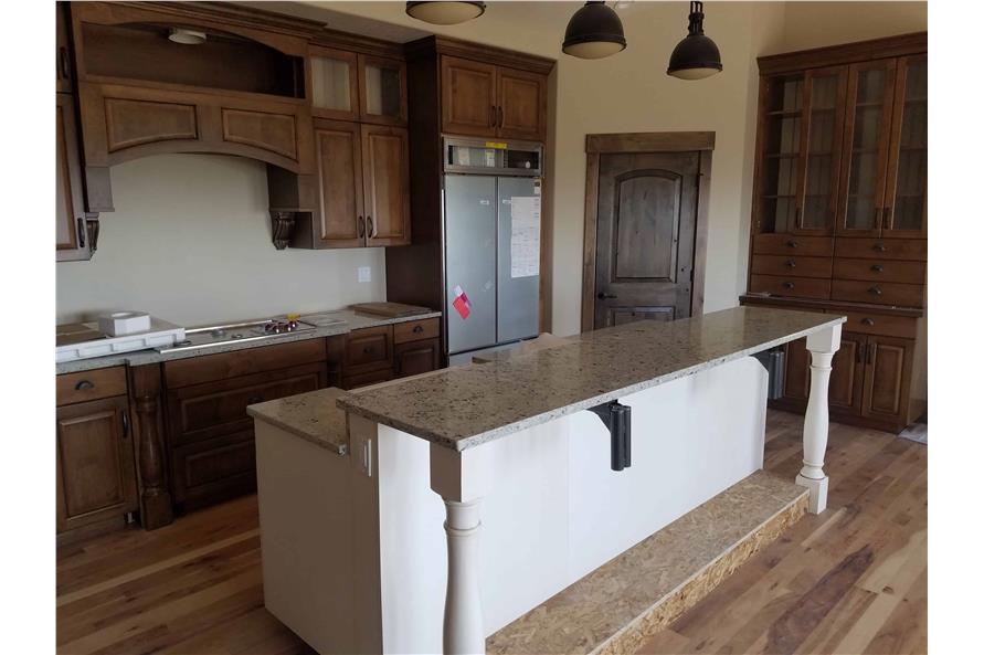 Kitchen: Breakfast Bar of this 1-Bedroom,2428 Sq Ft Plan -187-1159