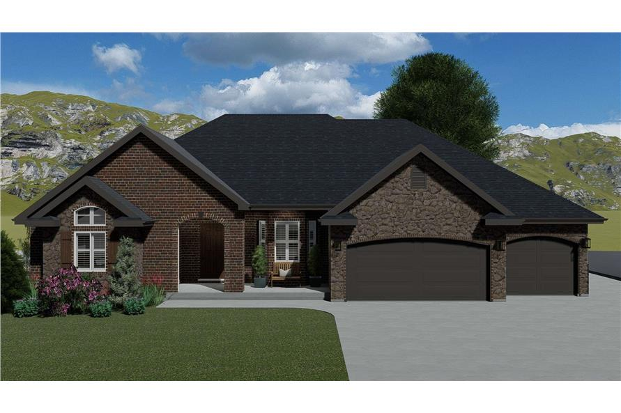 Front View of this 1-Bedroom,2428 Sq Ft Plan -187-1159