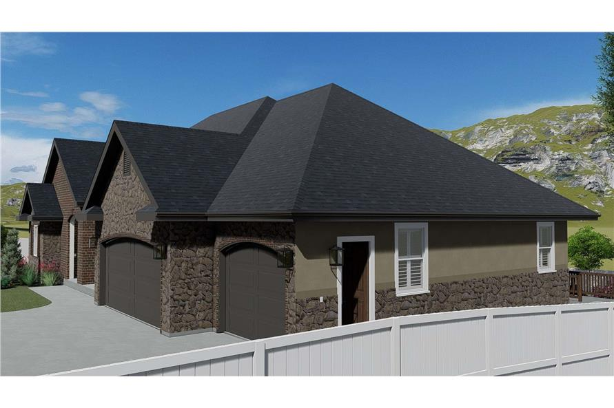 Side View of this 1-Bedroom,2428 Sq Ft Plan -187-1159