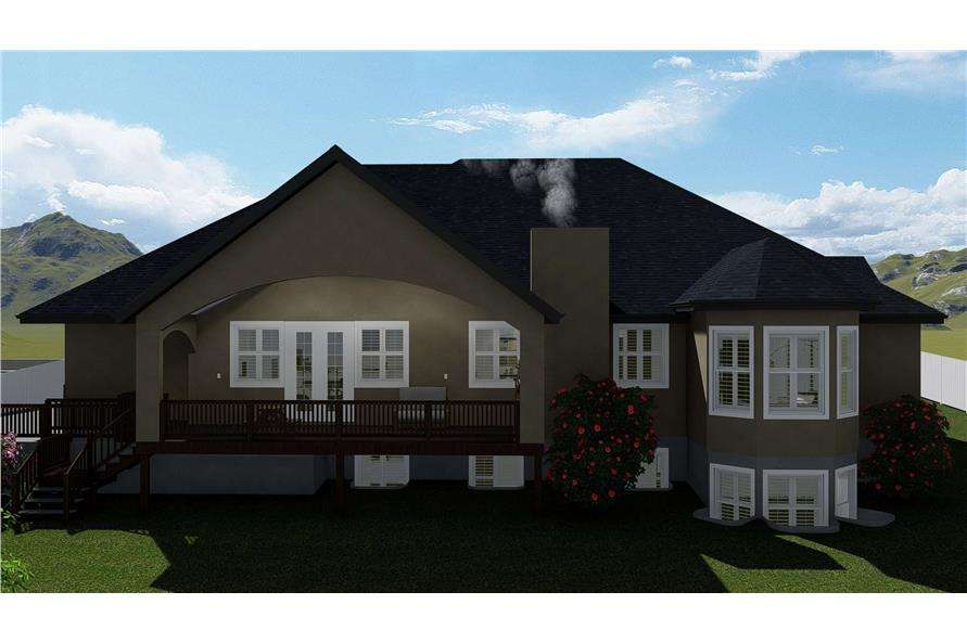 Rear View of this 1-Bedroom,2428 Sq Ft Plan -187-1159