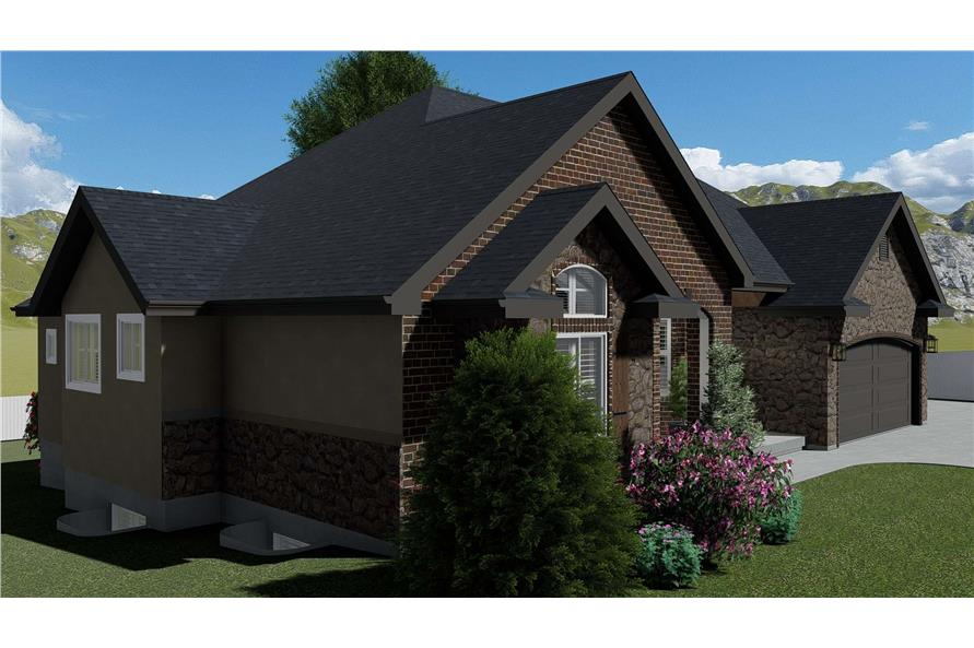 Left View of this 1-Bedroom,2428 Sq Ft Plan -187-1159