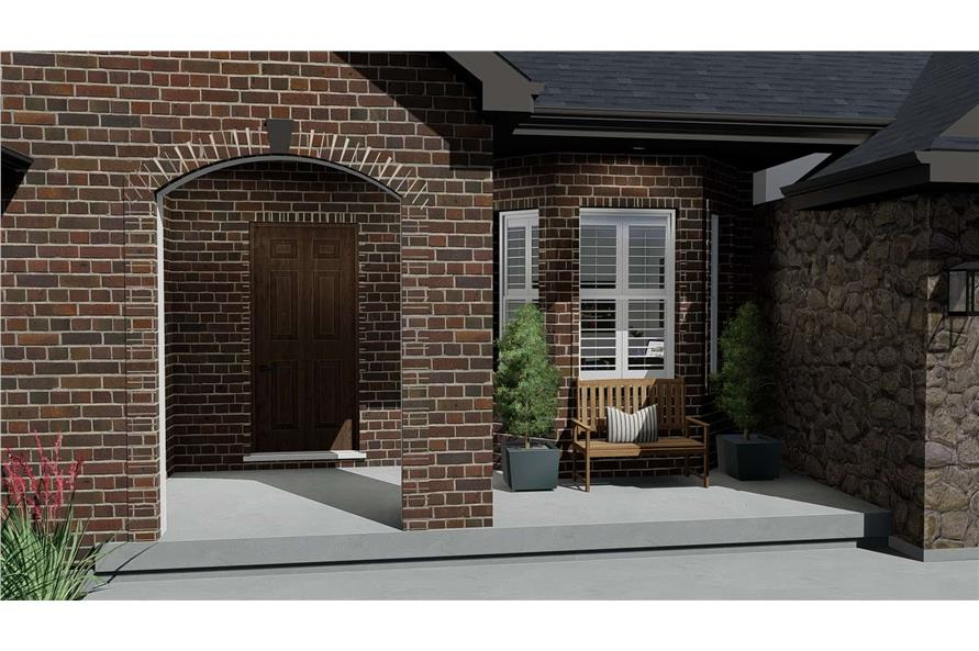 Porch of this 1-Bedroom,2428 Sq Ft Plan -187-1159
