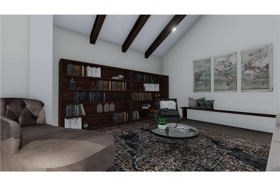 Living Room of this 1-Bedroom,2428 Sq Ft Plan -187-1159
