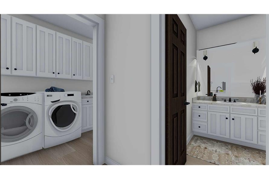 Laundry Room of this 1-Bedroom,2428 Sq Ft Plan -187-1159