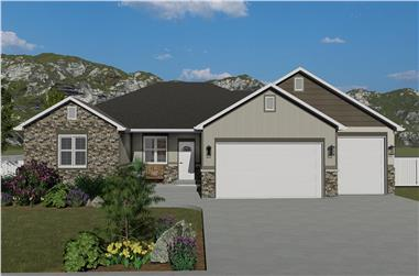 3-Bedroom, 1972 Sq Ft Ranch Home - Plan #187-1160 - Main Exterior