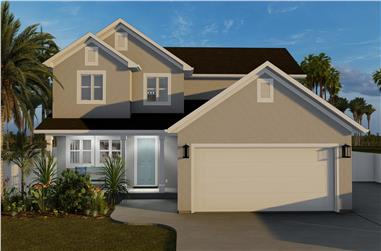 3-Bedroom, 1827 Sq Ft Contemporary Home Plan - 187-1161 - Main Exterior