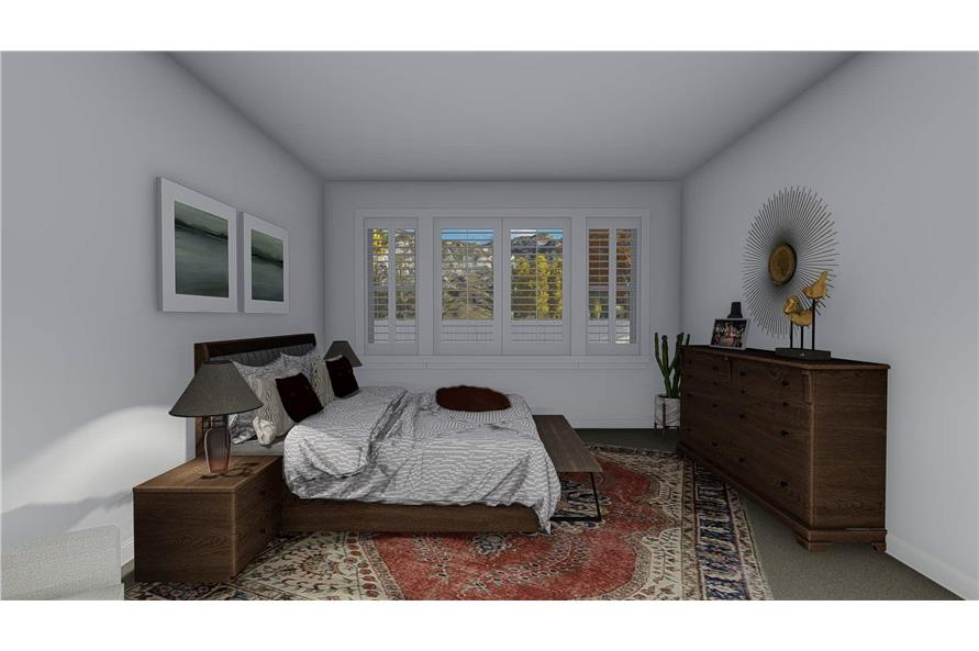 Master Bedroom of this 4-Bedroom,2710 Sq Ft Plan -187-1162