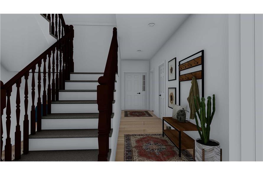 Entry Hall: Staircase of this 4-Bedroom,2710 Sq Ft Plan -187-1162