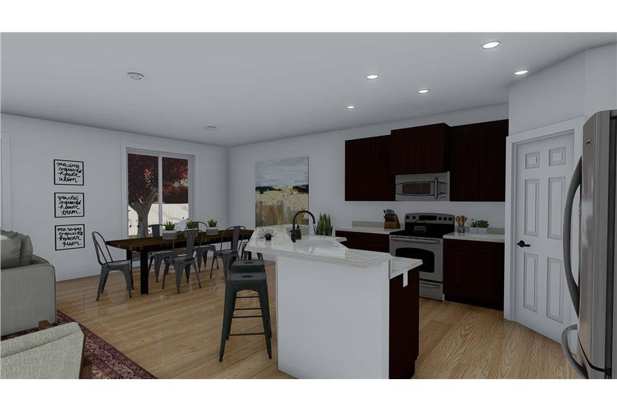 Kitchen of this 4-Bedroom,2710 Sq Ft Plan -187-1162