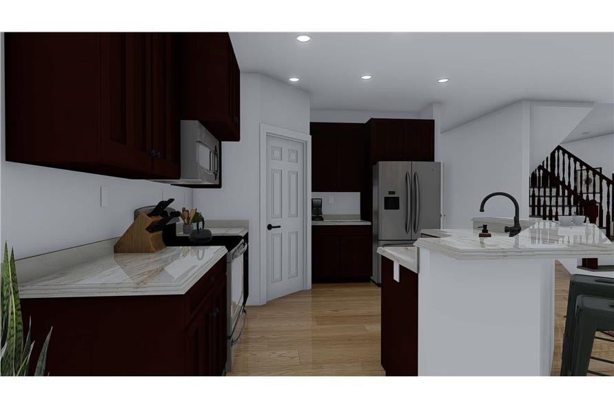 Kitchen: Pantry of this 4-Bedroom,2710 Sq Ft Plan -187-1162