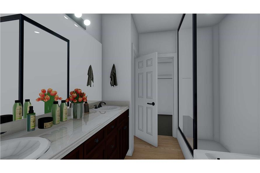 Master Bathroom of this 4-Bedroom,2710 Sq Ft Plan -187-1162