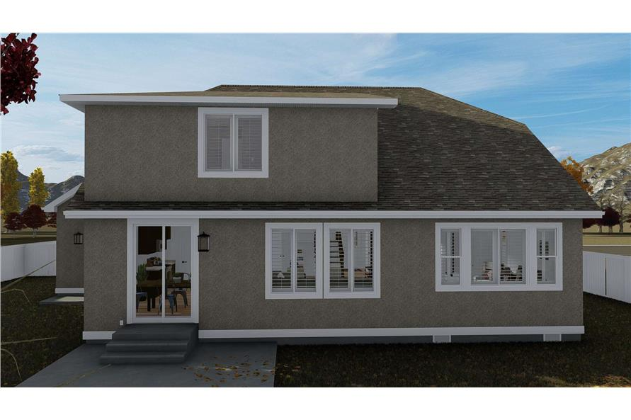 Rear View of this 4-Bedroom,2710 Sq Ft Plan -187-1162