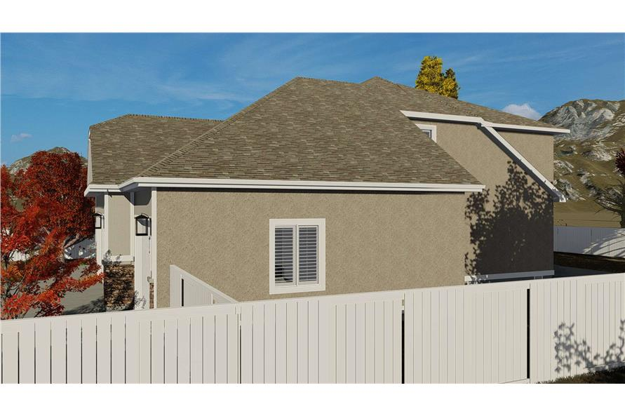 Side View of this 4-Bedroom,2710 Sq Ft Plan -187-1162