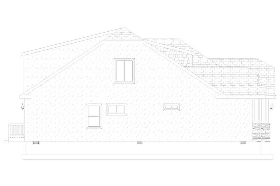 Home Plan Left Elevation of this 4-Bedroom,2710 Sq Ft Plan -187-1162