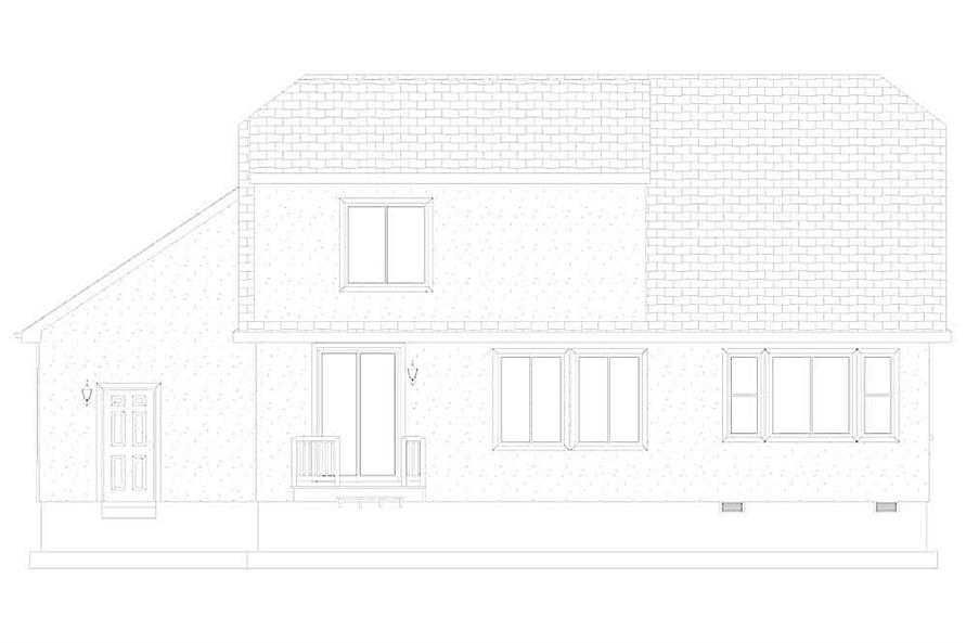 Home Plan Rear Elevation of this 4-Bedroom,2710 Sq Ft Plan -187-1162