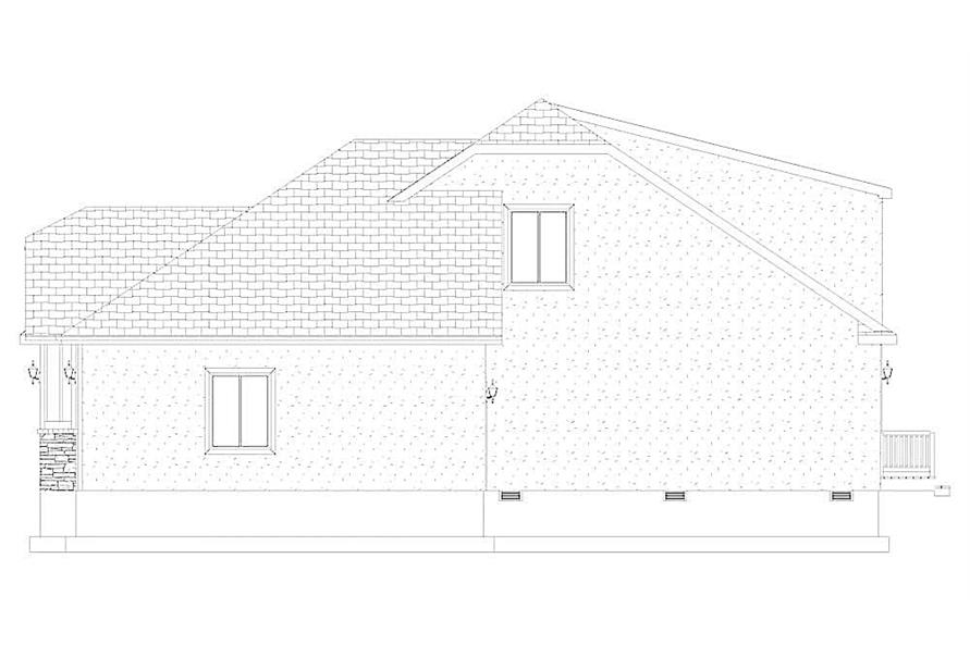 Home Plan Right Elevation of this 4-Bedroom,2710 Sq Ft Plan -187-1162