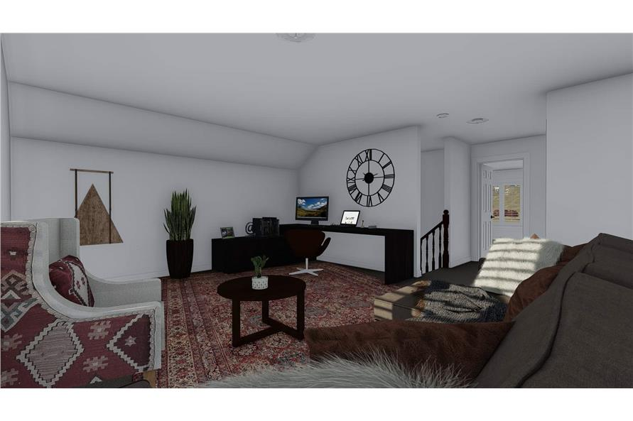 Home Plan Rendering of this 4-Bedroom,2710 Sq Ft Plan -187-1162