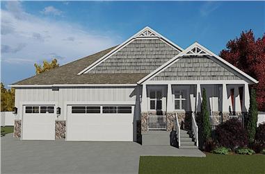 3-Bedroom, 2244 Sq Ft Ranch Home Plan - 187-1163 - Main Exterior