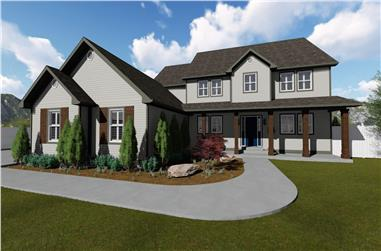 4–6-Bedroom, 3356–4958 Sq Ft Colonial House - Plan #187-1167 - Front Exterior