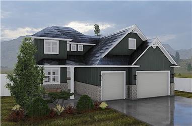 4-Bedroom, 2399 Sq Ft Farmhouse Home - Plan #187-1168 - Main Exterior