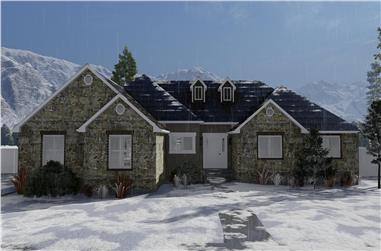 3–6-Bedroom, 2406–4810 Sq Ft Ranch House - Plan #187-1169 - Front Exterior
