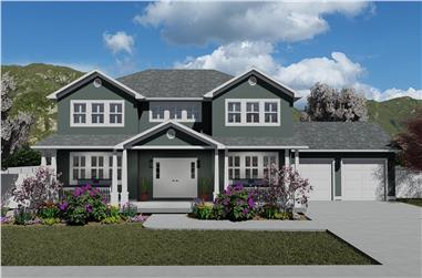 5–7-Bedroom, 3223–5233 Sq Ft Traditional Home - Plan 187-1171 - Main Exterior