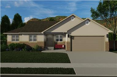 3–5-Bedroom, 1660–3275 Sq Ft Ranch House - Plan - 187-1172 #Front Exterior
