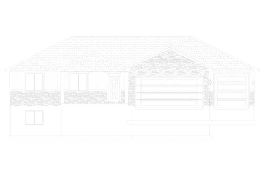 Home Plan Front Elevation of this 3-Bedroom,1699 Sq Ft Plan -187-1173