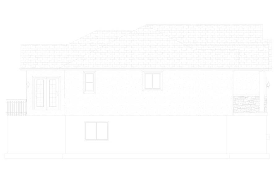 Home Plan Left Elevation of this 3-Bedroom,1699 Sq Ft Plan -187-1173