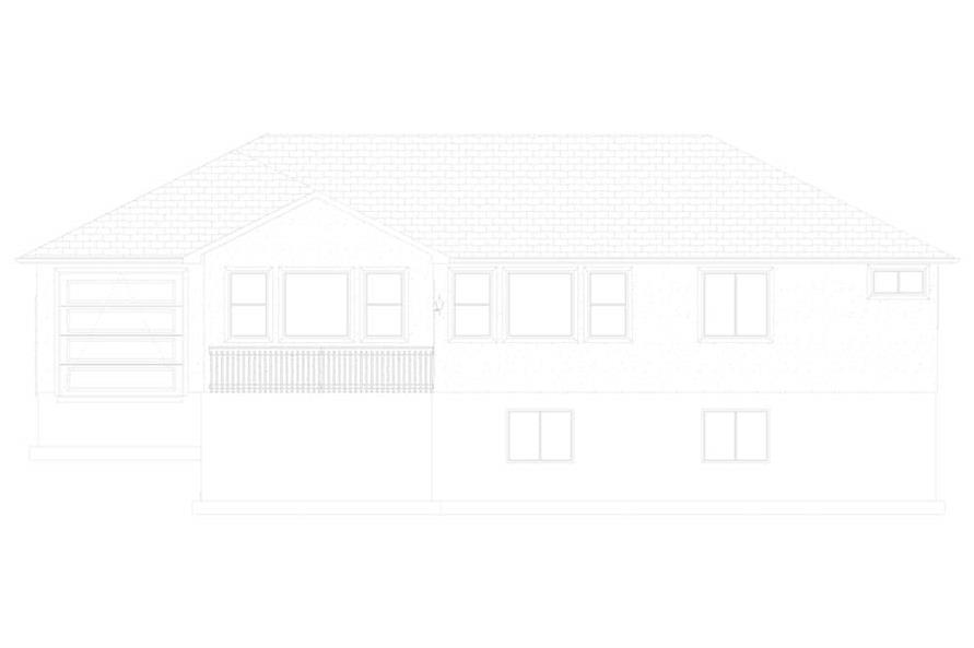 Home Plan Rear Elevation of this 3-Bedroom,1699 Sq Ft Plan -187-1173