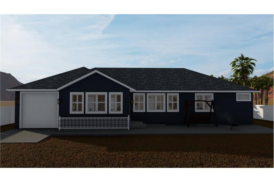 Rear View of this 3-Bedroom,1699 Sq Ft Plan -187-1173