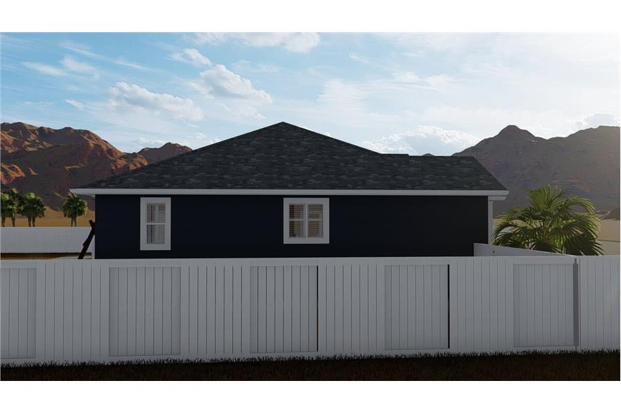 Side View of this 3-Bedroom,1699 Sq Ft Plan -187-1173