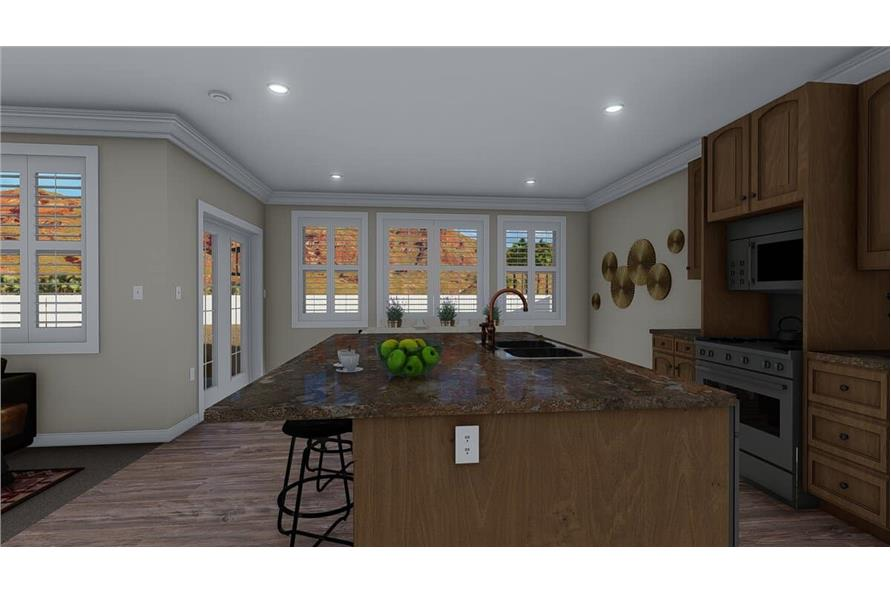 Kitchen of this 3-Bedroom,1699 Sq Ft Plan -187-1173