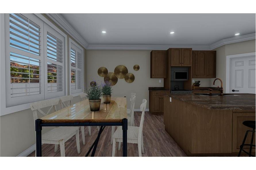 Dining Room of this 3-Bedroom,1699 Sq Ft Plan -187-1173