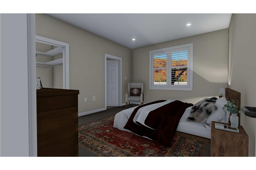 Master Bedroom of this 3-Bedroom,1699 Sq Ft Plan -187-1173