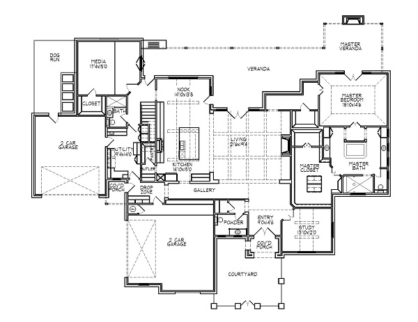 188-1000: Floor Plan Main Level