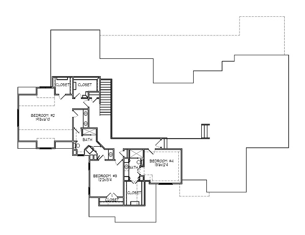 188-1000: Floor Plan Upper Level