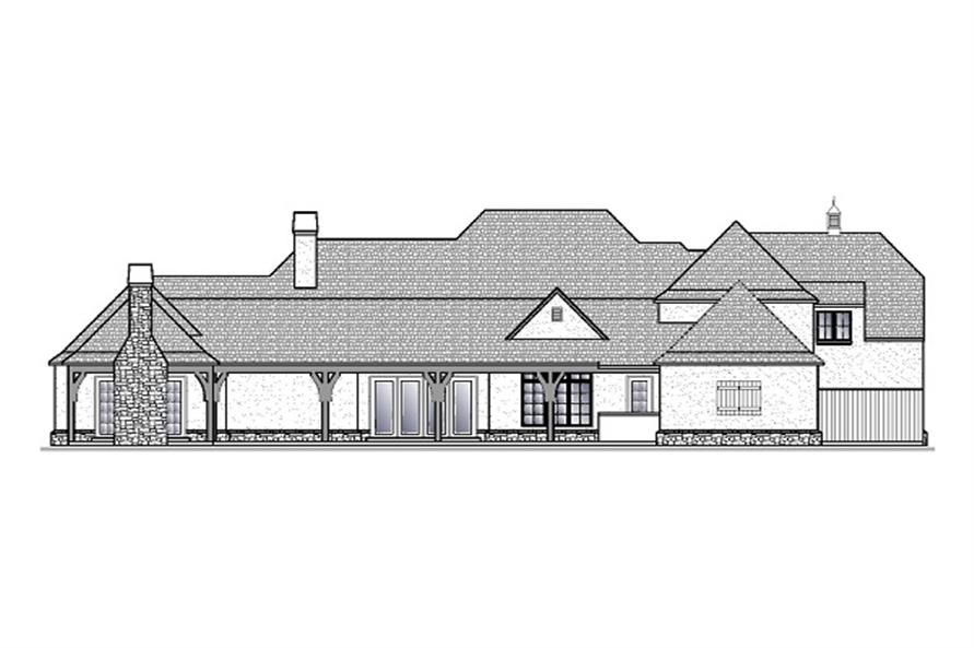 188-1000: Home Plan Rear Elevation