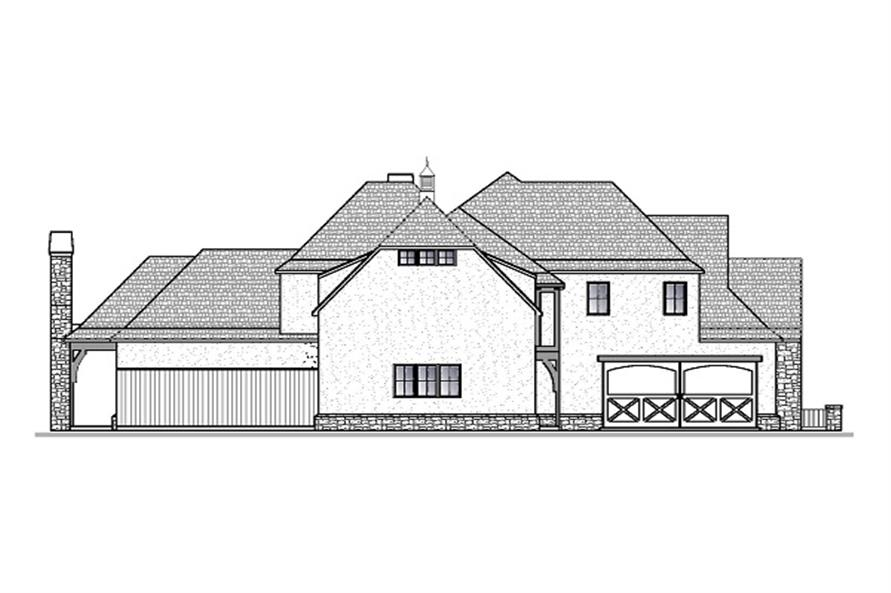 188-1000: Home Plan Left Elevation