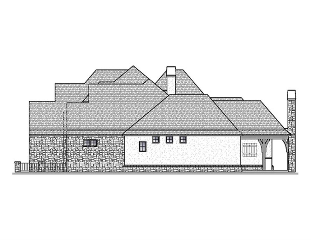 188-1000: Home Plan Right Elevation