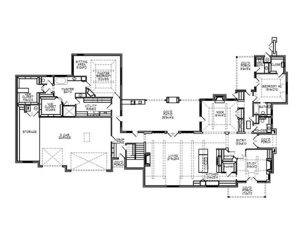 188-1001: Floor Plan Main Level