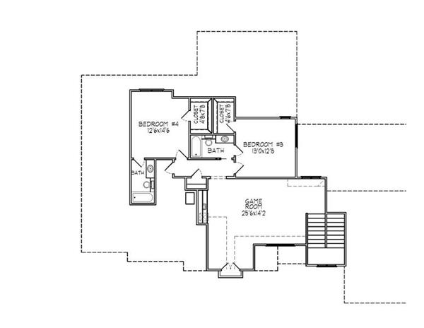 188-1001: Floor Plan Upper Level