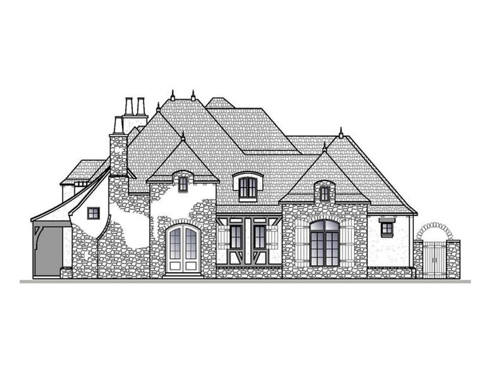 188-1001: Home Plan Right Elevation