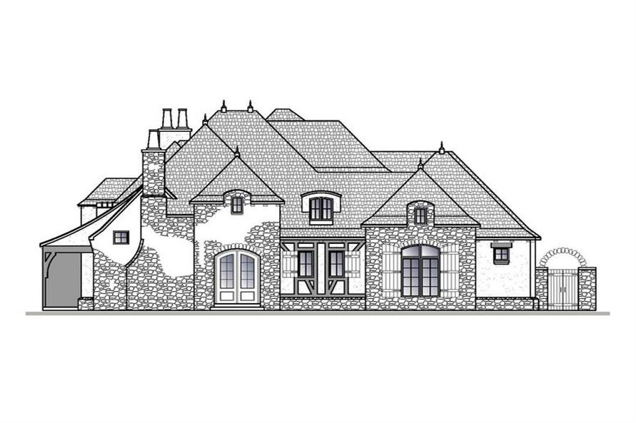 Home Plan Right Elevation of this 4-Bedroom,4404 Sq Ft Plan -188-1001