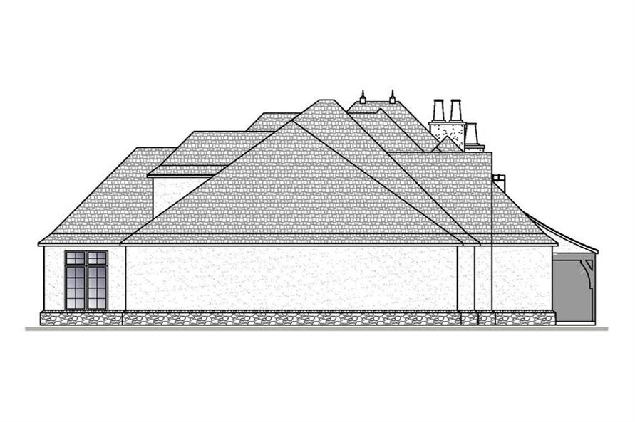 188-1001: Home Plan Left Elevation