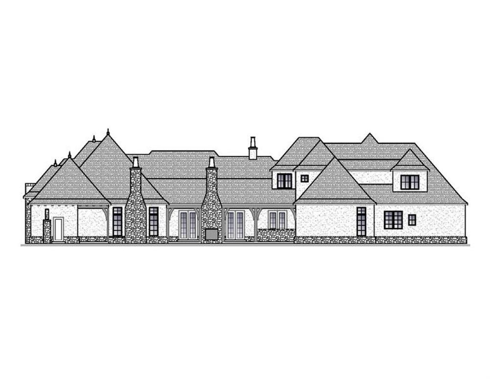 188-1001: Home Plan Rear Elevation