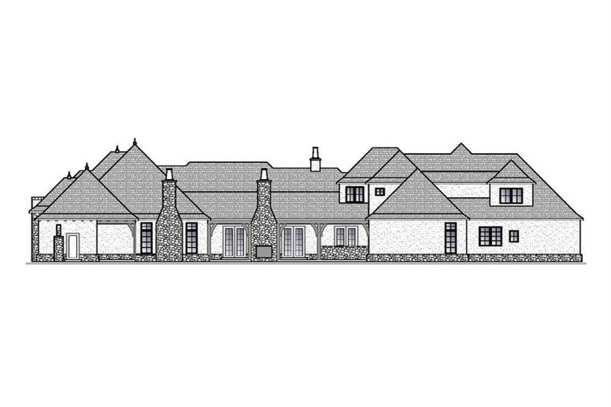 Home Plan Rear Elevation of this 4-Bedroom,4404 Sq Ft Plan -188-1001