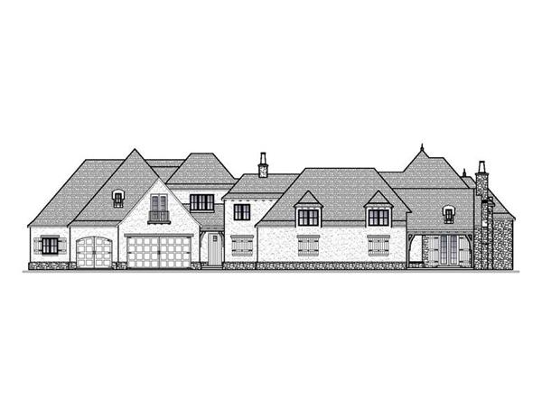188-1001: Home Plan Front Elevation