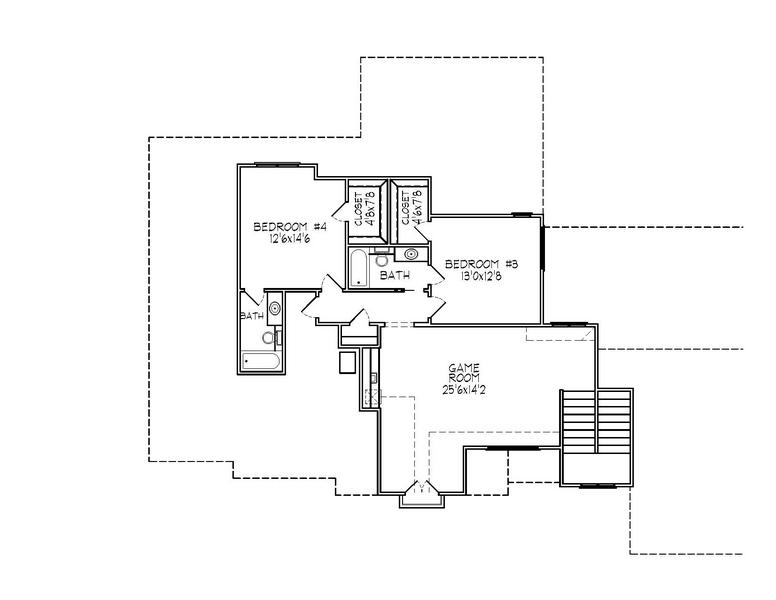 188-1002: Floor Plan Upper Level