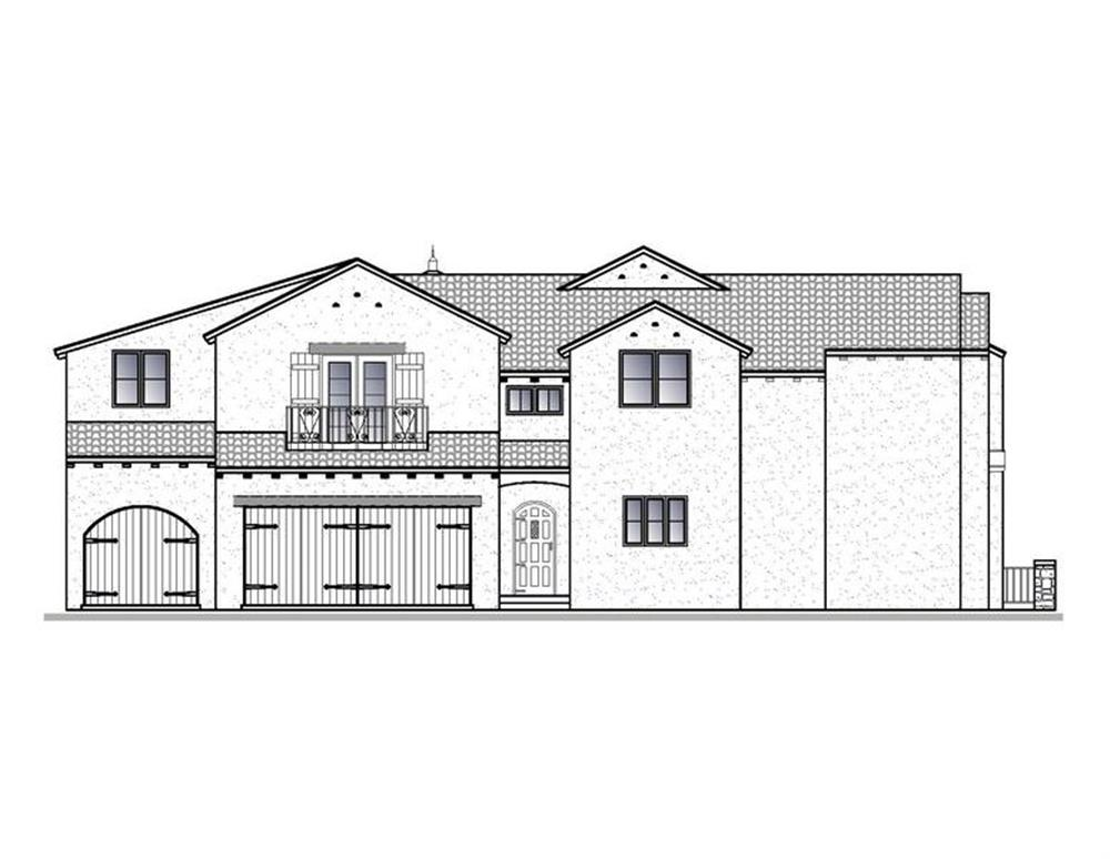 188-1002: Home Plan Left Elevation